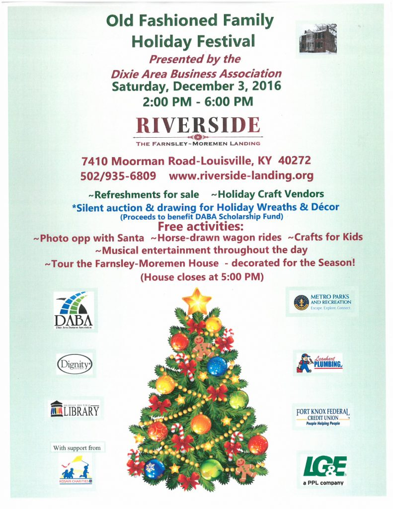 Old Fashioned Family Holiday Festival - Riverside, the Farnsley ...